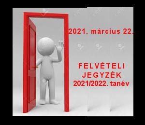 Felvételi jegyzék 2020/2021
