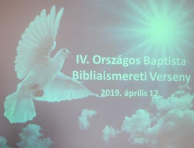 IV. Országos Bibliaismereti Verseny Döntő