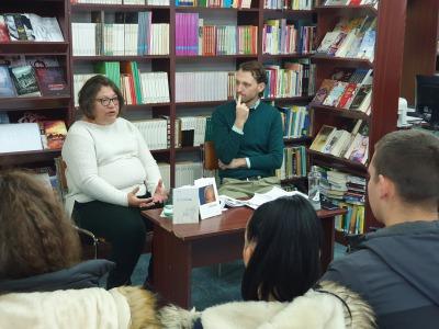 Író-olvasó találkozó a könyvtárban