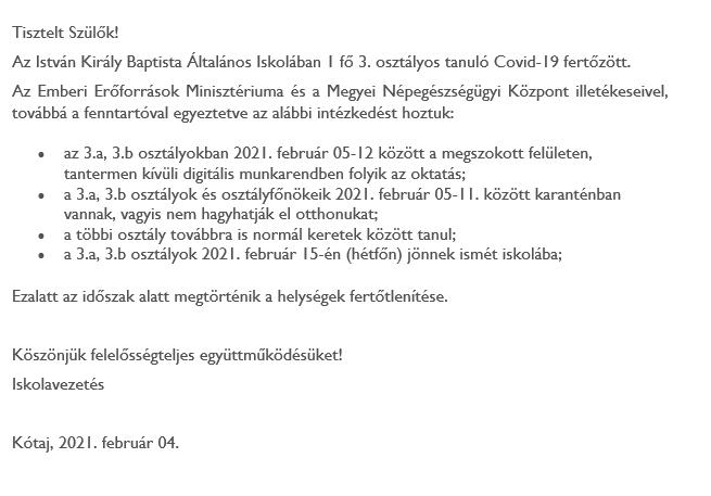 Tájékoztató 02.04.
