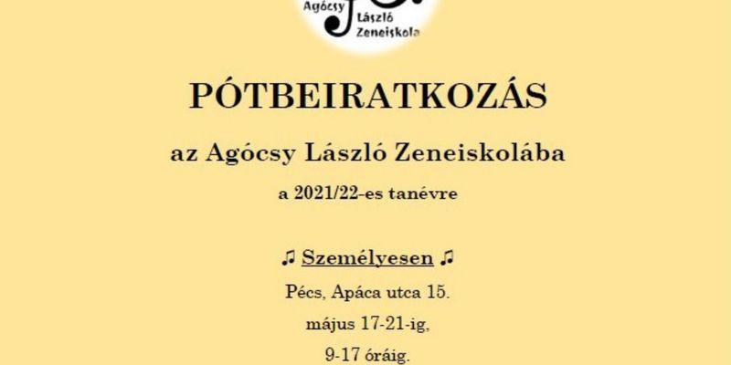 Pótbeiratkozás az Agócsy László Zeneiskolába