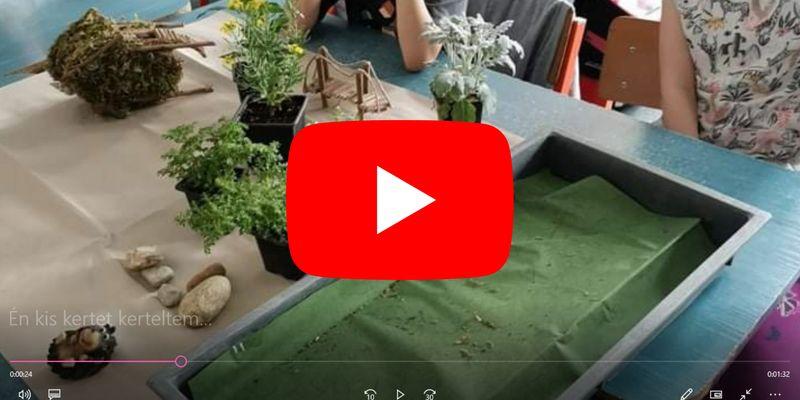 A minikert kihívást elfogadva elkészült a kis kerttel az 1.b