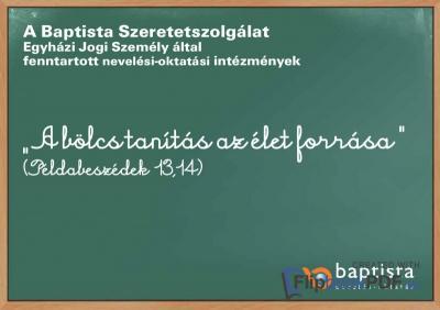 a Baptista Szeretetszolgálat oktatási intézményeit bemutató kiadvány