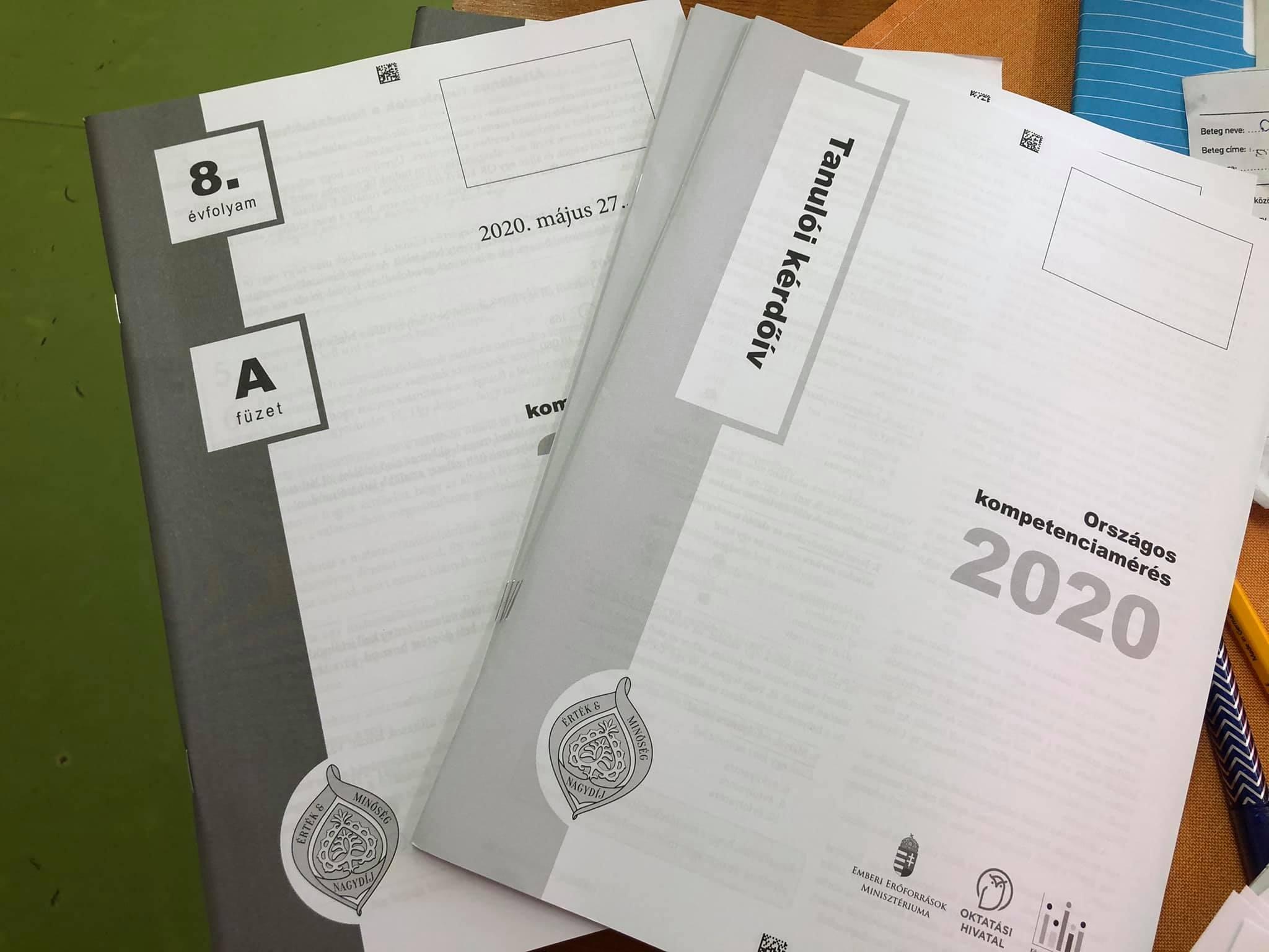 Országos kompetenciamérés,2021.május 26.