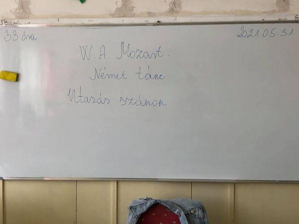 33.ének óra,6.osztály, W.A.Mozart:Utazás szánon,19.tétel Tanár: Bernadett Gadzsa