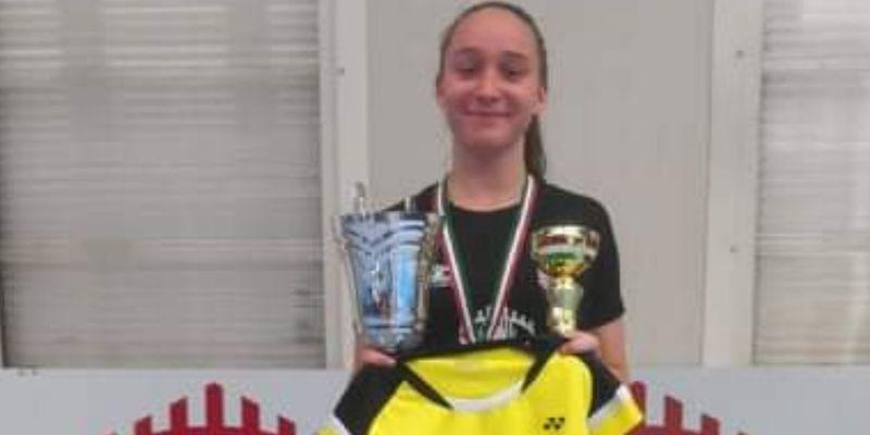 Magyar bajnok U17-es korosztályban Hart Petra (9. A osztályos) tollaslabdázó